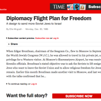 Time Magazine:  Diplomacy Flight Plan for Freedom