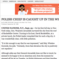 New York Times: POLISH CHIEF IS CAUGHT UP IN THE WHIRL